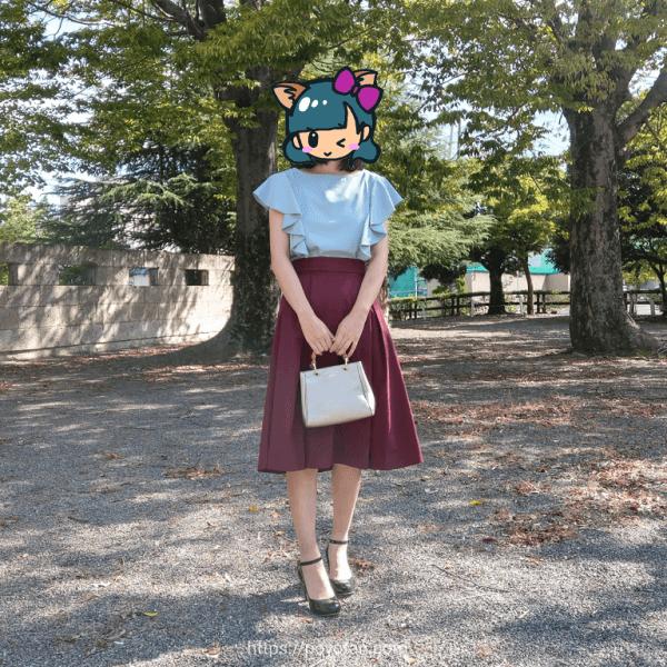 エディストクローゼットの洋服を着てみた