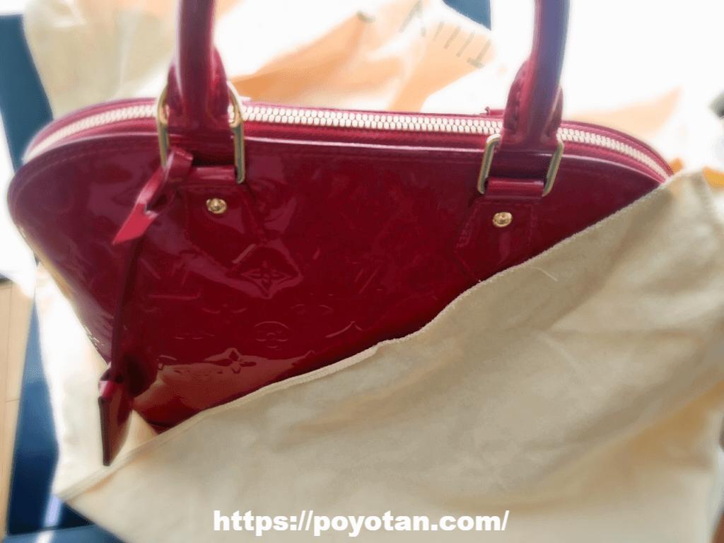 ラクサス返却方法:箱と袋にバッグを戻す