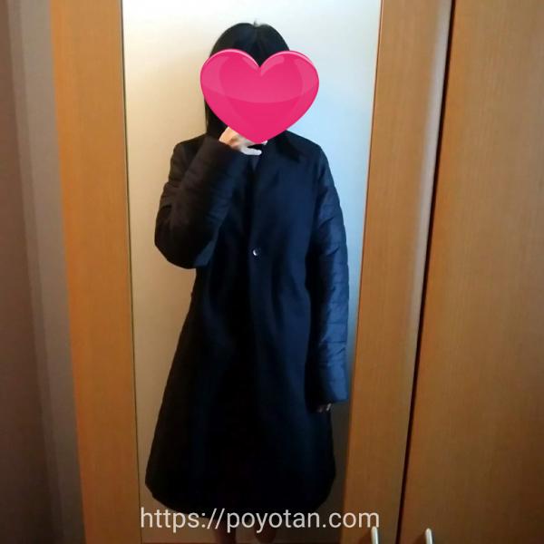 エディストクローゼットのコート試着