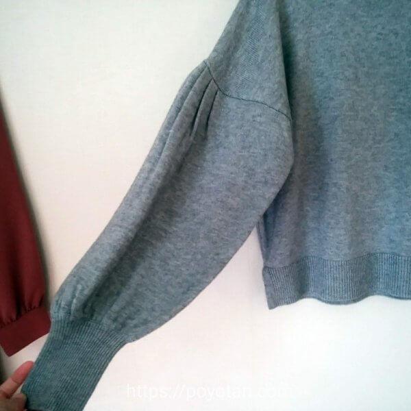 エアークローゼットのクリスマスデートコーディネート:ニットの袖