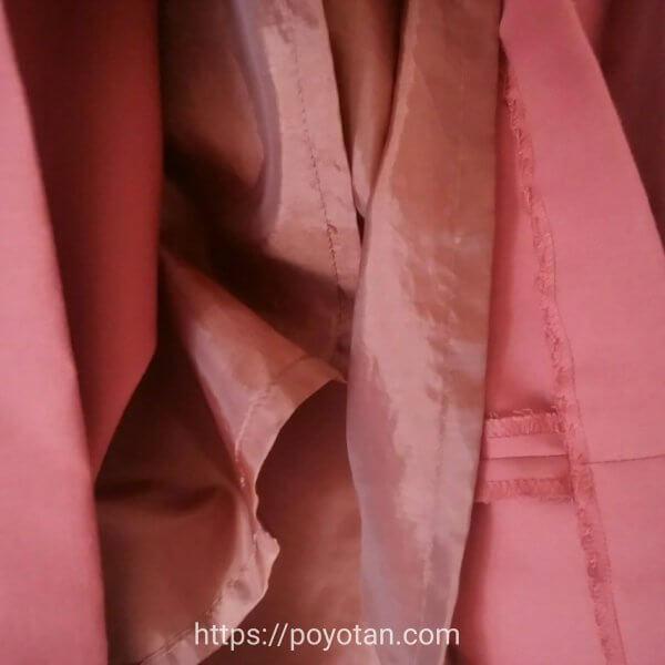 エアークローゼットのスカートは裏地がついている
