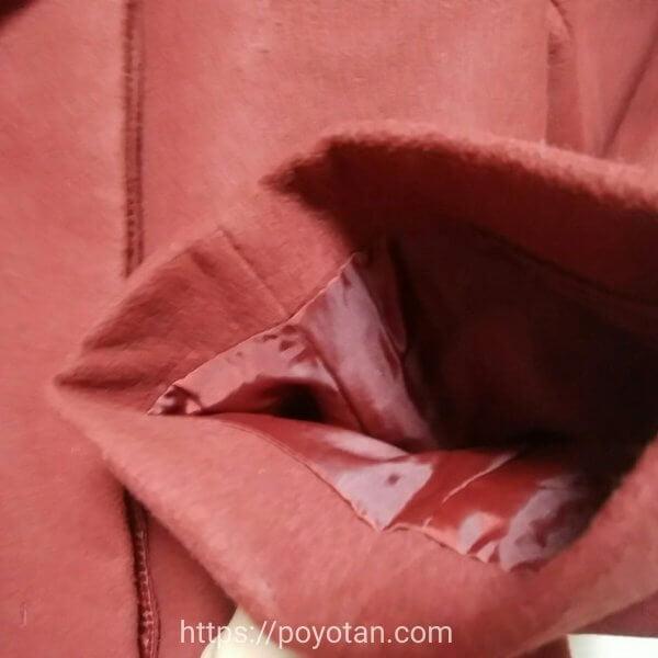 メチャカリ:コートの袖
