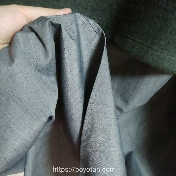 メチャカリ:スカートの生地