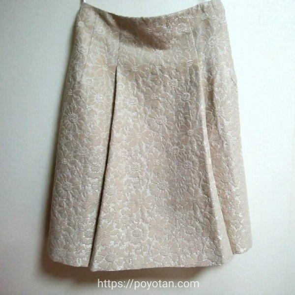 ef-de(エフデ):花柄ラメジャガードスカート