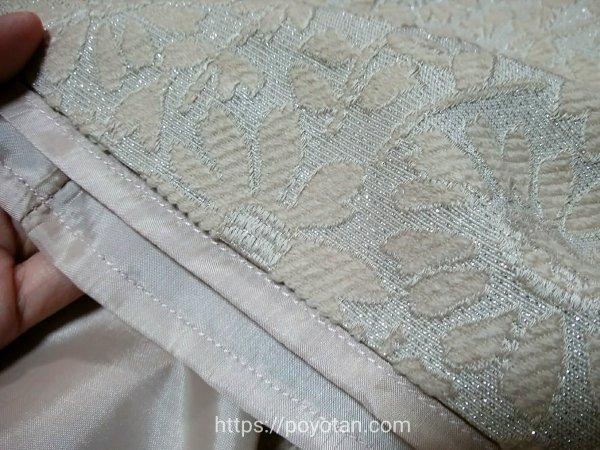 ef-de(エフデ):花柄ラメジャガードスカートの生地