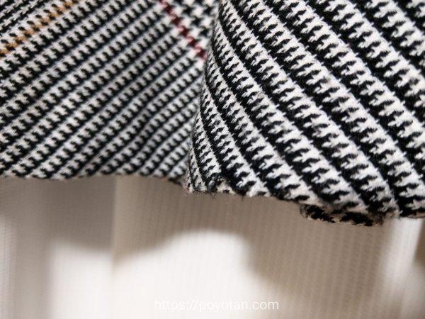 Rcawaii(アールカワイイ)のワンピースの裾のアップ
