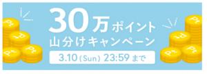 30万ポイント山分けキャンペーン開催中!