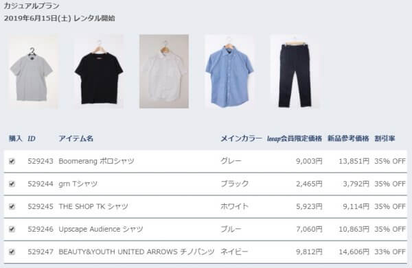 leeapから届いた洋服の価格とブランド
