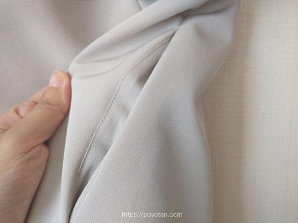 ブリスタのFOXEYワンピース白のポケット部分