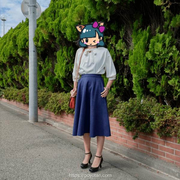 エディストクローゼットのスカートを着てみた