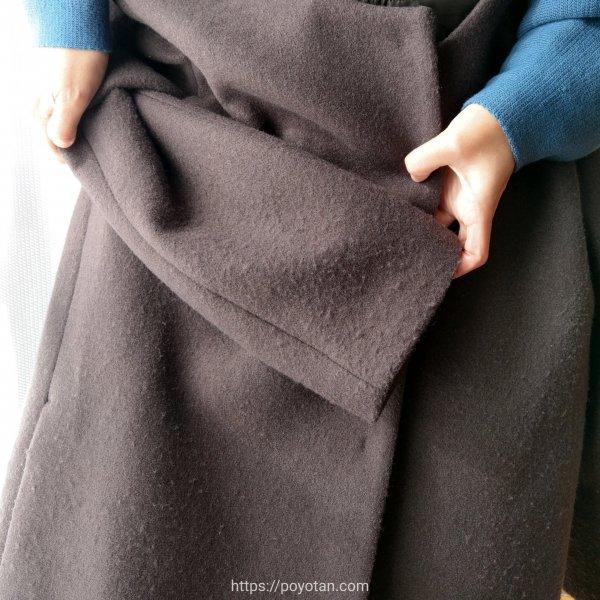 エディストクローゼットのコート毛玉