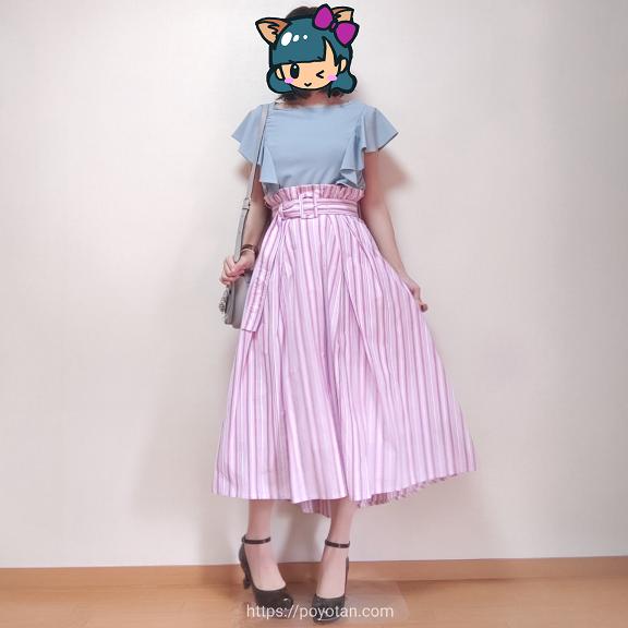 エアークローゼットのスカートを着てみた