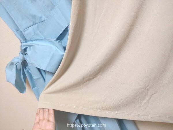 DOUBLE STANDARD CLOTHINGのワンピース(インナー付き)