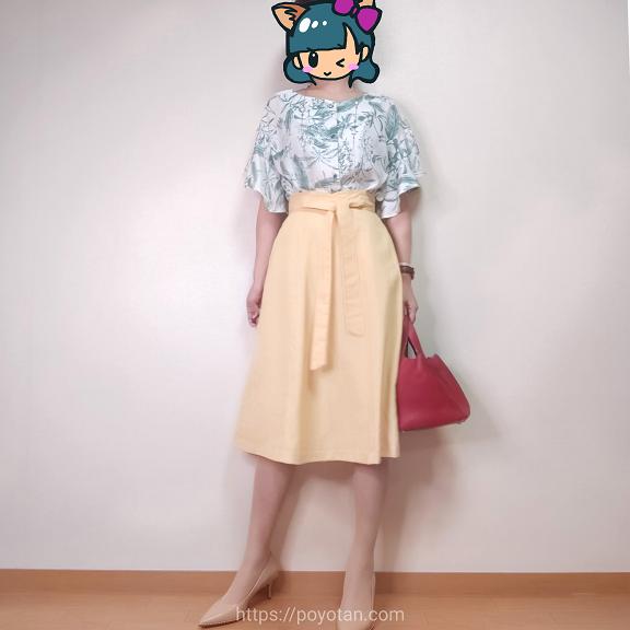 エアークローゼットのカットソーとスカート
