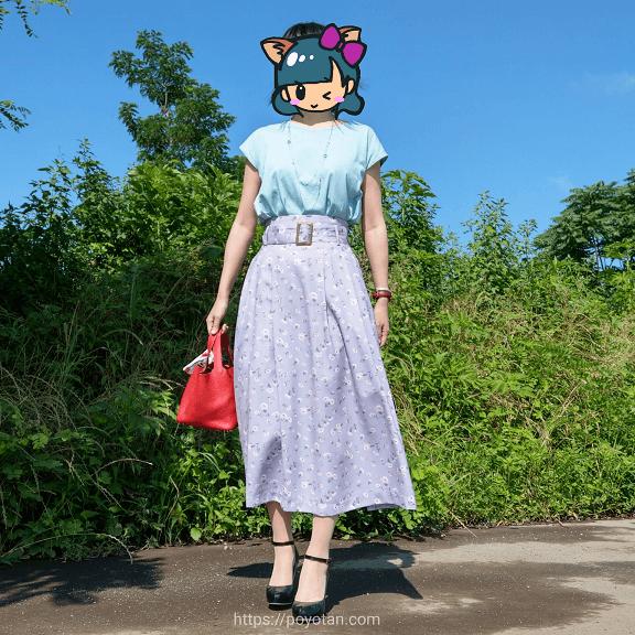 Rcawaii(アールカワイイ)のカットソーとスカート