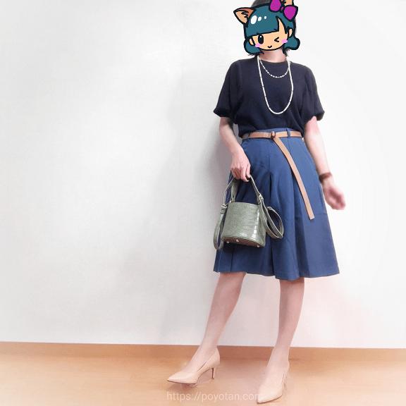 エディストクローゼット・サマーHAPPYBOX:バルーンスリーブニット・スカート風膝丈キュロットパンツ