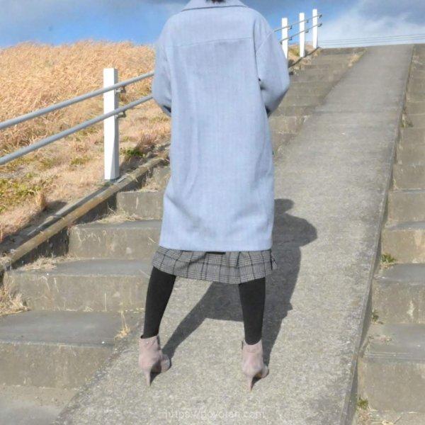 エディストクローゼット(EDIST. CLOSET)のコートとニットとスカート