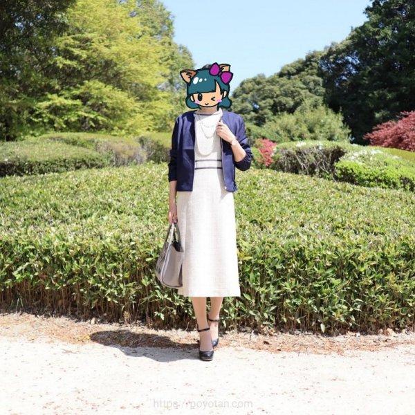 エディストクローゼット:ワンタイムレンタル(配色パイピングワンピーススーツセット)