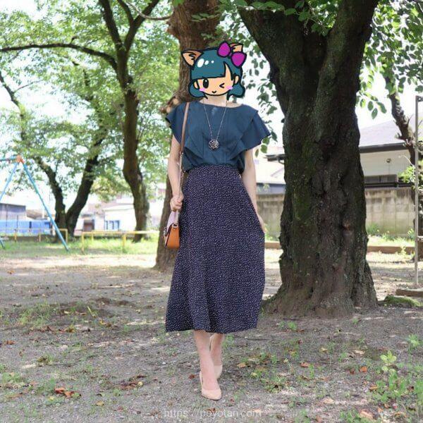 エディストクローゼットのブラウスとスカート